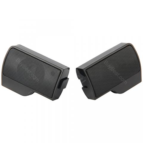 cheap Mini USB Stereo Speaker 2pcs/set - Black