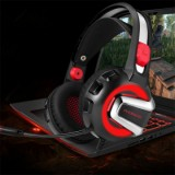 ET H-4 Gaming Headset, Black/Red-3