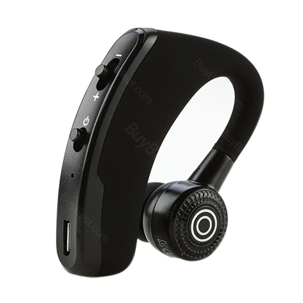 V9 Bluetooth Headset Wireless Earphone Ear Hook Black