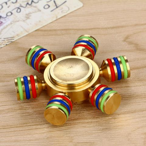 cheap Luminous EDC Hand Spinner with Six Spins - Brass