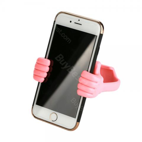cheap Big Thumb Phone Tablet Stand Holder  - Pink