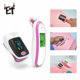 BGM-1 Medical Finger Pulse Oximeter Ear Thermometer, Pink-5