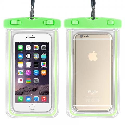 cheap Noctilucent Waterproof Case for Max 6 Inch Phone - Green