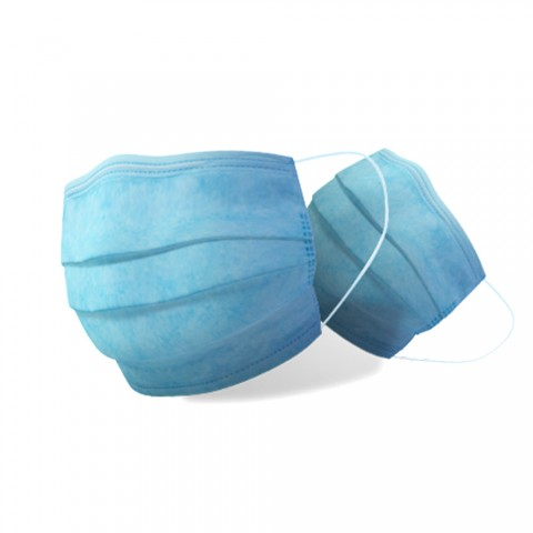 cheap Disposable Face Mask 50pcs/Pack - Blue