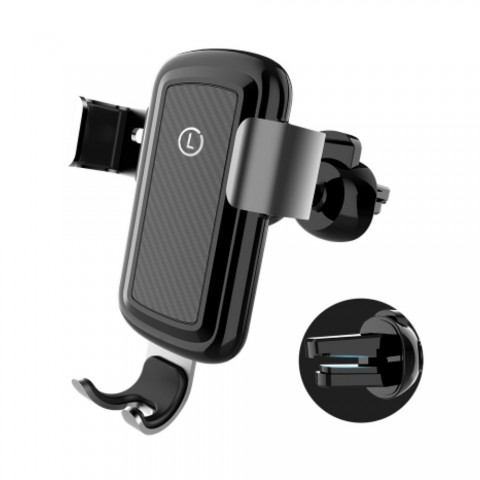 cheap ET Z70 Wireless Car Charger Phone Holder - Black