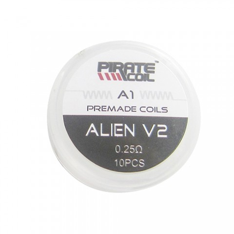 cheap Pirate Alien V2 Coil 10pcs/pack - kanthal a1 26g(a1)+30g(316l) 0.25ohm