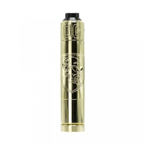 cheap Purge Mods Skull & Shield 21700 Kit with OG Cap RDA - Brass