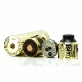 Purge Mods Skull & Shield 21700 Kit with OG Cap RDA - Brass-1
