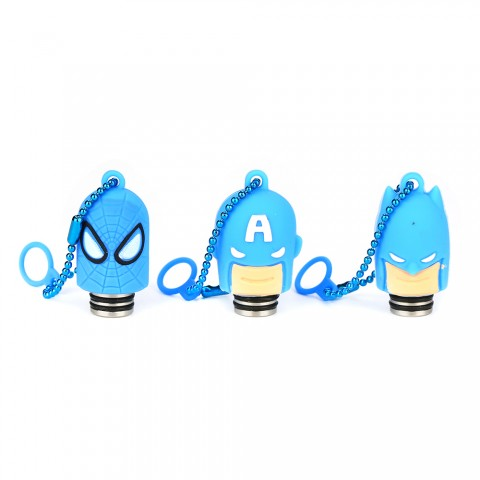 cheap Shield Super Hero 510 Resin Drip Tip with Dust Cover - Blue Spiderman