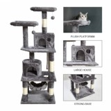 [US Only] Large/Small Size Cat Tree  - Large Size - Grey-1