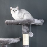 [US Only] Large/Small Size Cat Tree  - Large Size - Grey-3