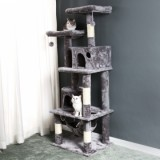[US Only] Large/Small Size Cat Tree  - Large Size - Grey-4