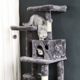 [US Only] Large/Small Size Cat Tree  - Large Size - Grey-2