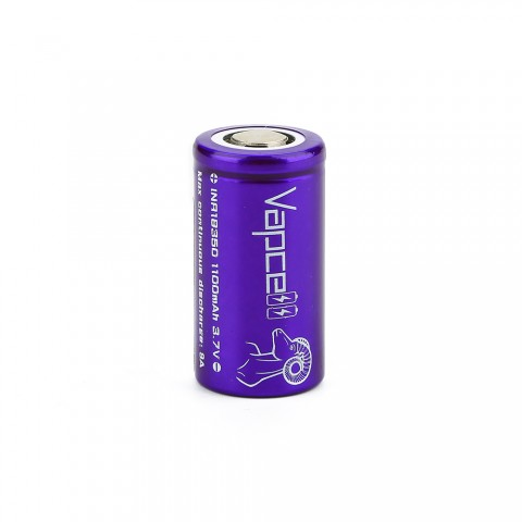 cheap Vapcell INR18350 High-drain Li-ion Battery 9A - 1100mAh, 18350