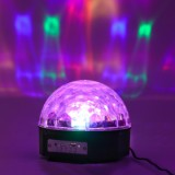 XXY-1 LED Bluetooth Speaker Disco Ball Light, Black US plug-5