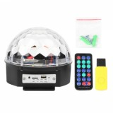 best XXY-1 LED Bluetooth Speaker Disco Ball Light, Black US plug
