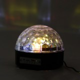 XXY-1 LED Bluetooth Speaker Disco Ball Light, Black US plug-4
