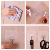 G&T Seamless Suction Cup Hook 6Pcs/Set - Pure-2