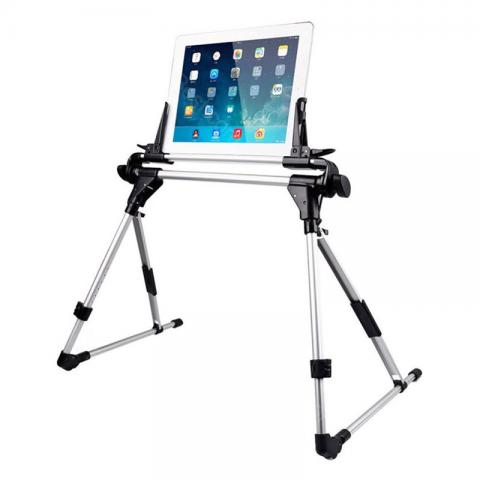 cheap Collapsible Aluminum Tablet Stand for Phone/iPad - Black