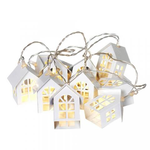 cheap G&T LED Christmas Tree House Christmas Decoration Gift - White Type A