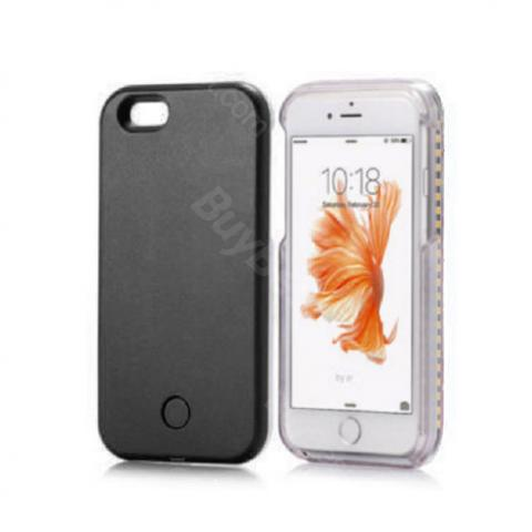 cheap Phone Case with LED Light - Black for iPhone 7/8