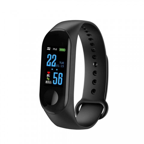 cheap M3 Fitness Tracker IP67 Waterproof Smart Bracelet Color Screen Watch - Black