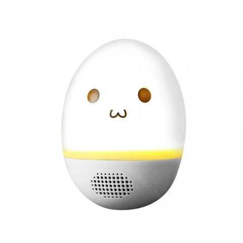 cheap Roly-poly Egg LED Colorful Bluetooth Speaker, White