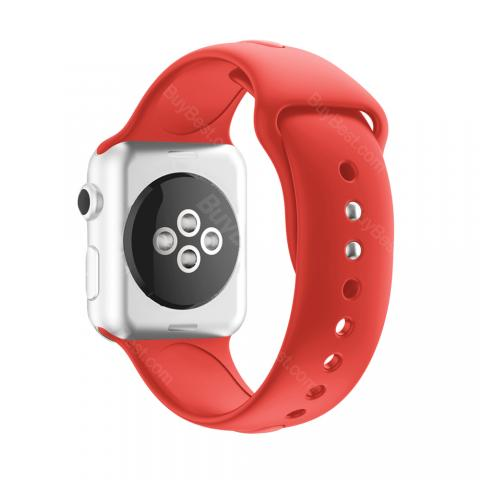 cheap ET IWE-1 Silicone Watch Strap for iwatch, Red