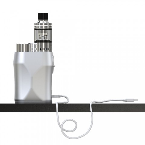 cheap 75W Eleaf iStick Pico X Kit With Melo 4 D22 Atomizer - Silver Without Child Lock