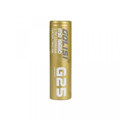 Golisi G25 IMR 18650 High-drain Li-ion Battery 20A 2500mAh