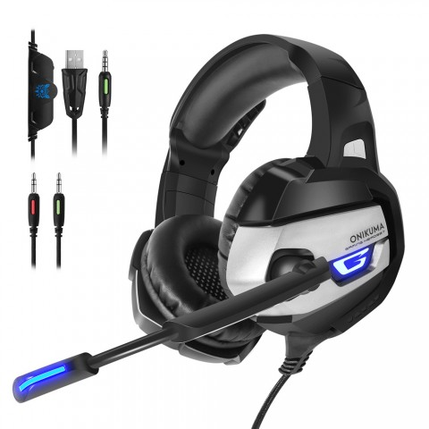 cheap Vapeonly Gaming Headset for PS4 XBOX1 with LED Light - Black/Grey