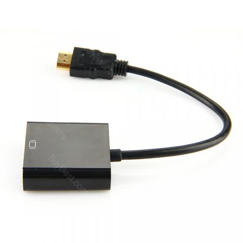 Portable HDMI To VGA Adapter Gold Plated Joint