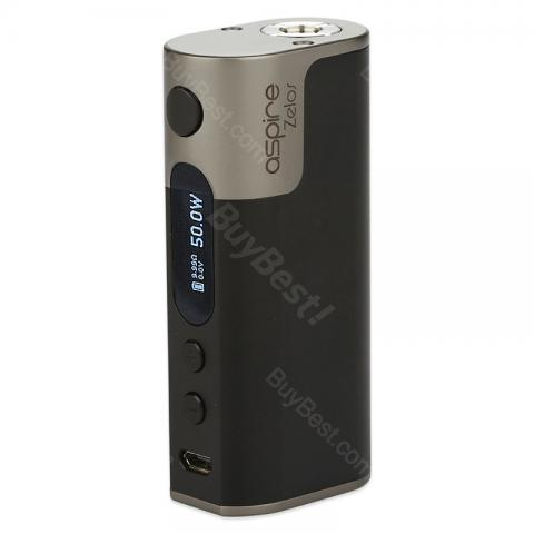 cheap 50W Aspire Zelos TC Box MOD - 2500mAh, Black