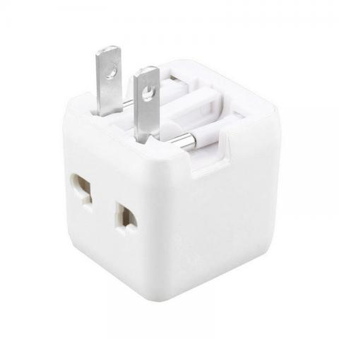 cheap Mini Travel Adapter for UK/US/EU/Australia - White