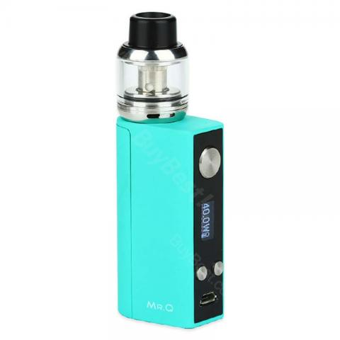 cheap SMY MR.Q 40W TC Starter Kit  - Cyan