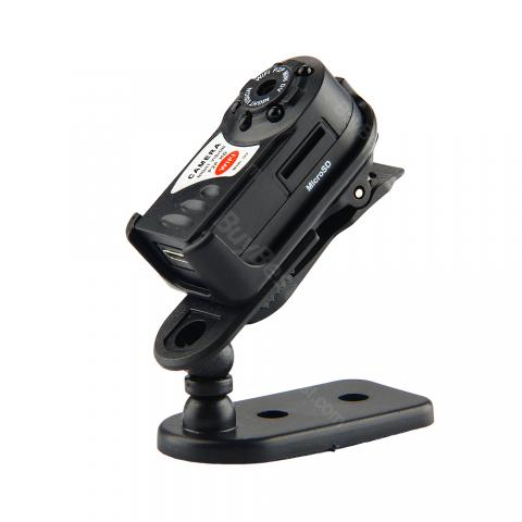 cheap Q7 HD Wifi Camera Mini Camcorder - Black