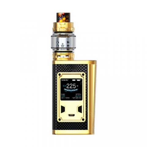 cheap 225W SMOK Majesty TC Kit with TFV12 Prince Tank - Carbon Fiber Version, Gold 2ml