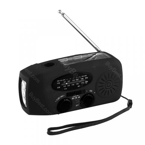 Multi-function AM/FM/NOAA Solar Radio with Hand Crank Charging