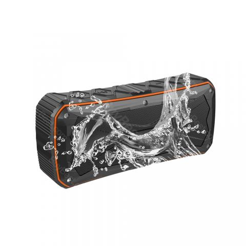cheap IP66 Waterproof Portable Bluetooth Speaker with 4500mAh for Outdoor Adventure - Orange