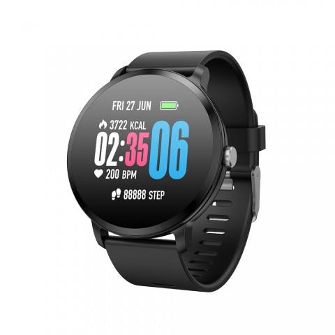 cheap Smart Watch V11 Touch Screen Fitness Tracker Heart Rate Monitor Waterproof - Black