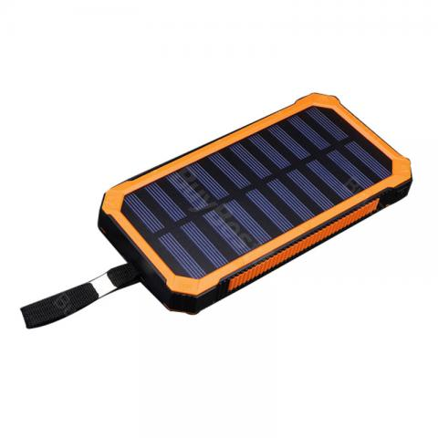 cheap Waterproof Solar USB Power Bank 10000mAh  - Orange