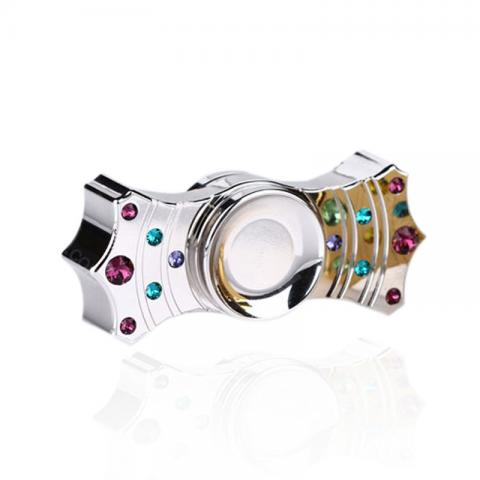 cheap V2 Crown Two Spins Fidget Spinner with Ceramic Bearing & Luxury Rhinestones