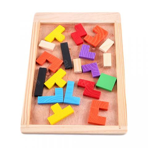 cheap Enjoybay QW-1 Wooden Tetris Puzzle Toy