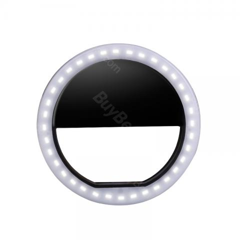 USB Rechargeable LED Selfie Ring Flash Light for iPhone, Samsung and more