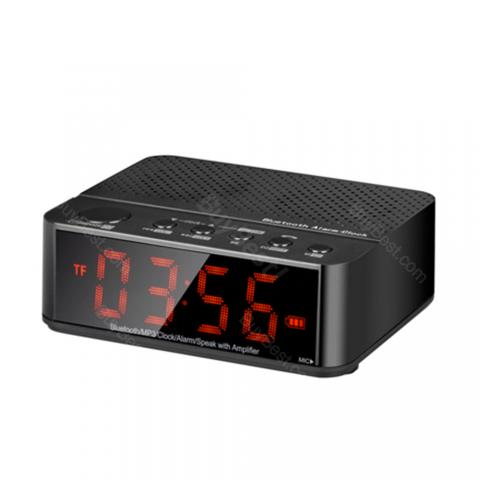 LED Alarm Clock Bluetooth Speaker