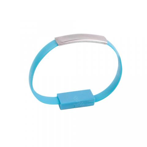 cheap ET Bracelet Data Charger USB Cord iPhone/Android/Type-C, Blue Type A