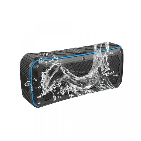 cheap IP66 Waterproof Portable Bluetooth Speaker with 4500mAh for Outdoor Adventure - Blue