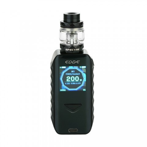 cheap 200W Digiflavor Edge TC Starter Kit with Spectre Tank - Black 5.5ml
