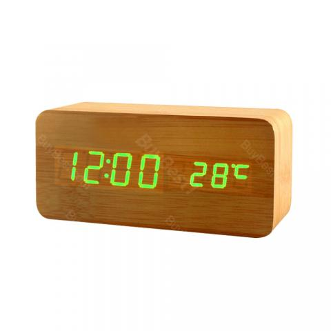 cheap Wooden Electronic Alarm Clock - Type B