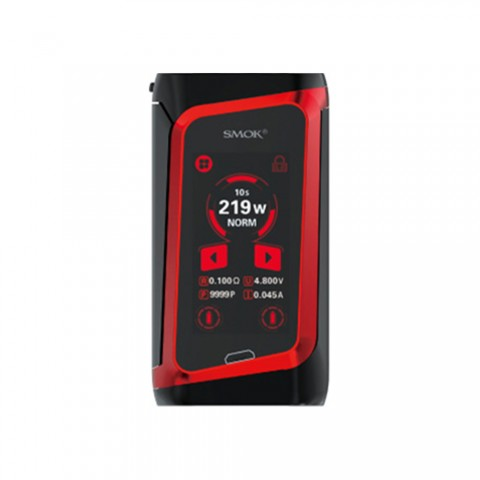 cheap 219W SMOK MORPH Screen Touch TC Box MOD - Black Red